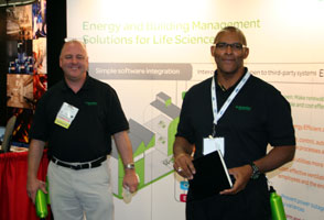 Picture of Schneider Electric booth staff