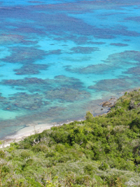 The shoreline of St. Croix Island in the U.S. Virgin Islands